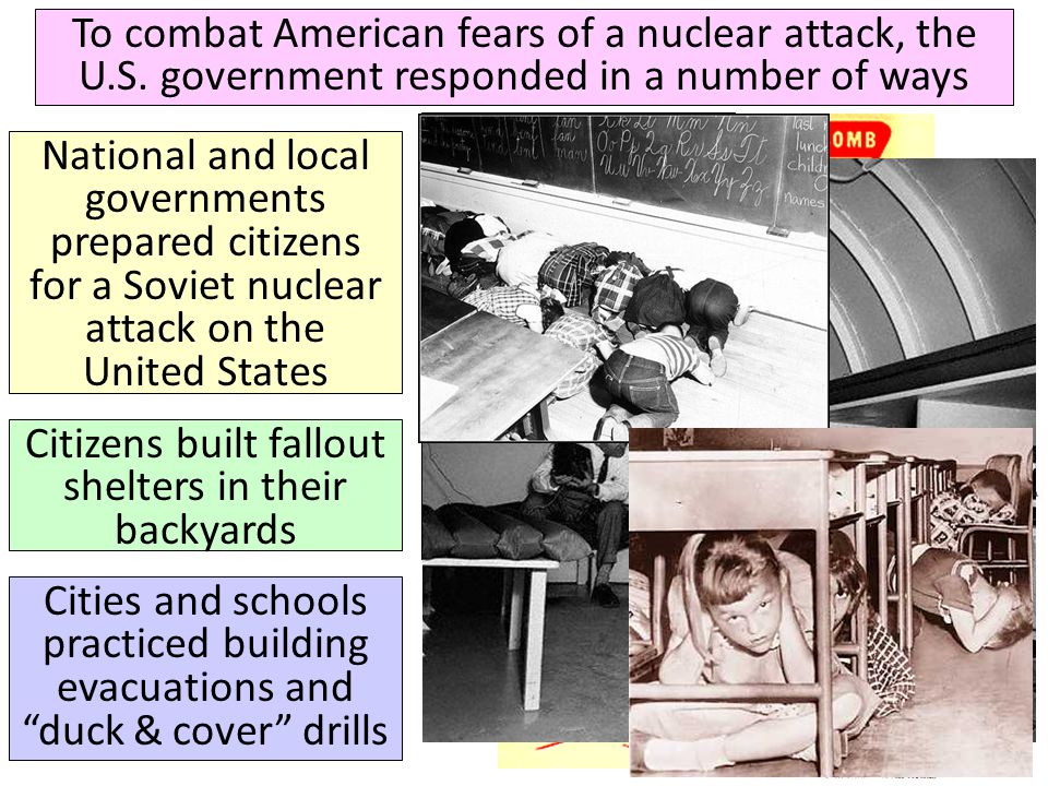Citizens built fallout shelters in their backyards