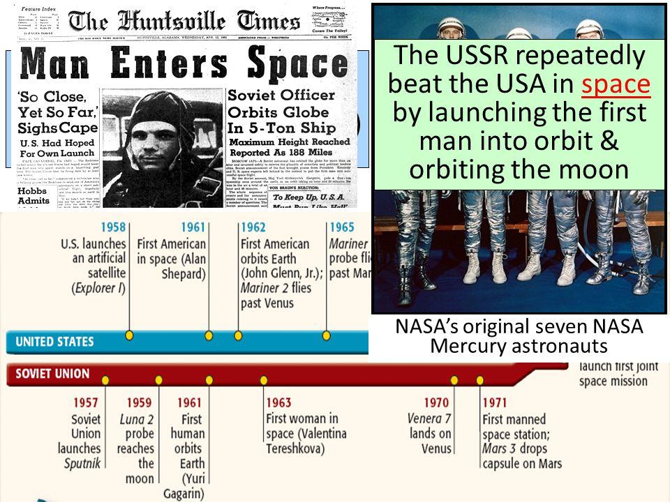 NASA's original seven NASA Mercury astronauts
