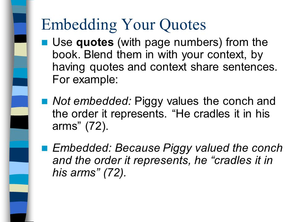 Embedding Your Quotes