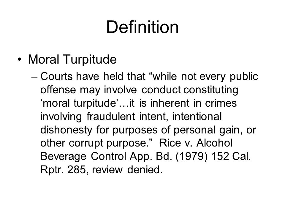 Definition Moral Turpitude