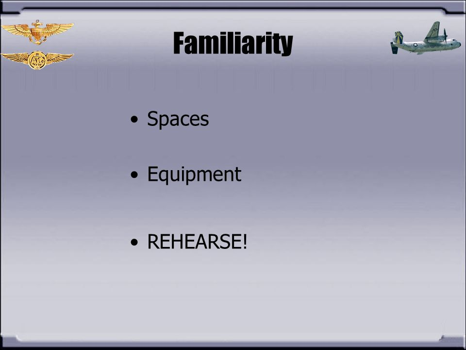 Familiarity Spaces Equipment REHEARSE!