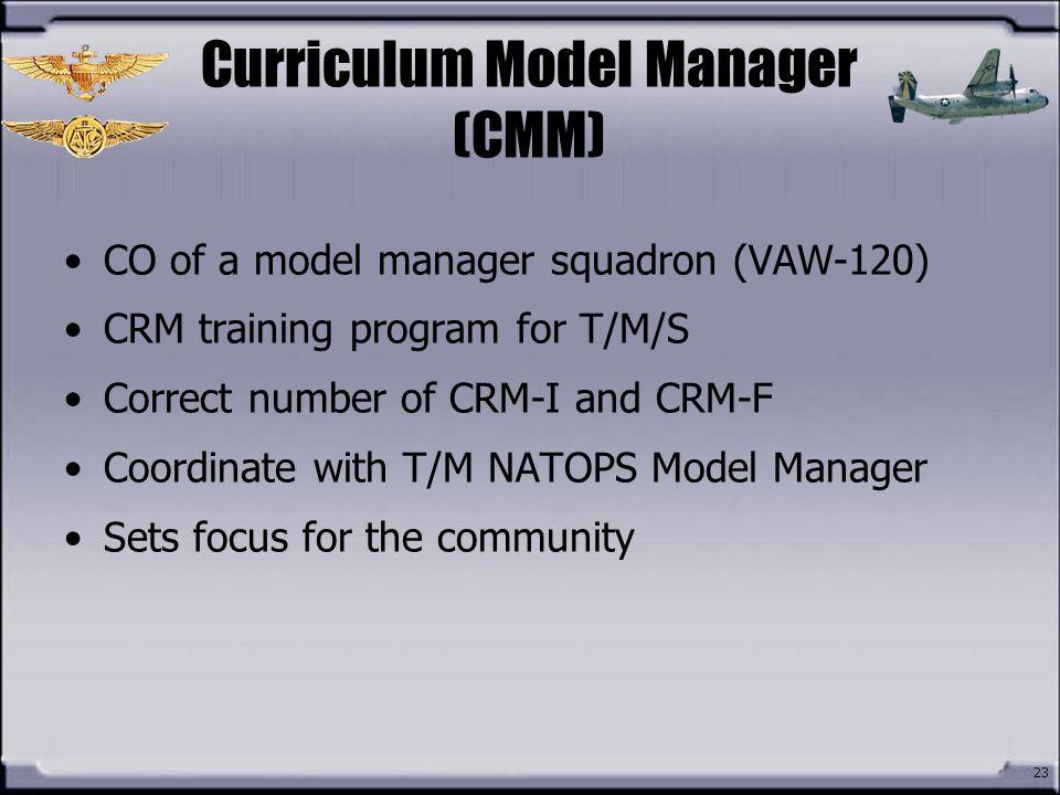 Curriculum Model Manager (CMM)