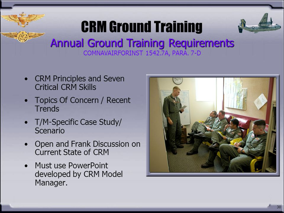 CRM Ground Training Annual Ground Training Requirements