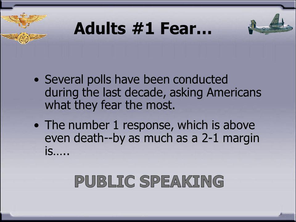 Adults #1 Fear… PUBLIC SPEAKING