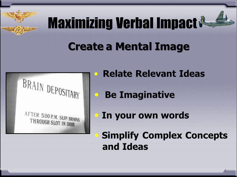 Maximizing Verbal Impact
