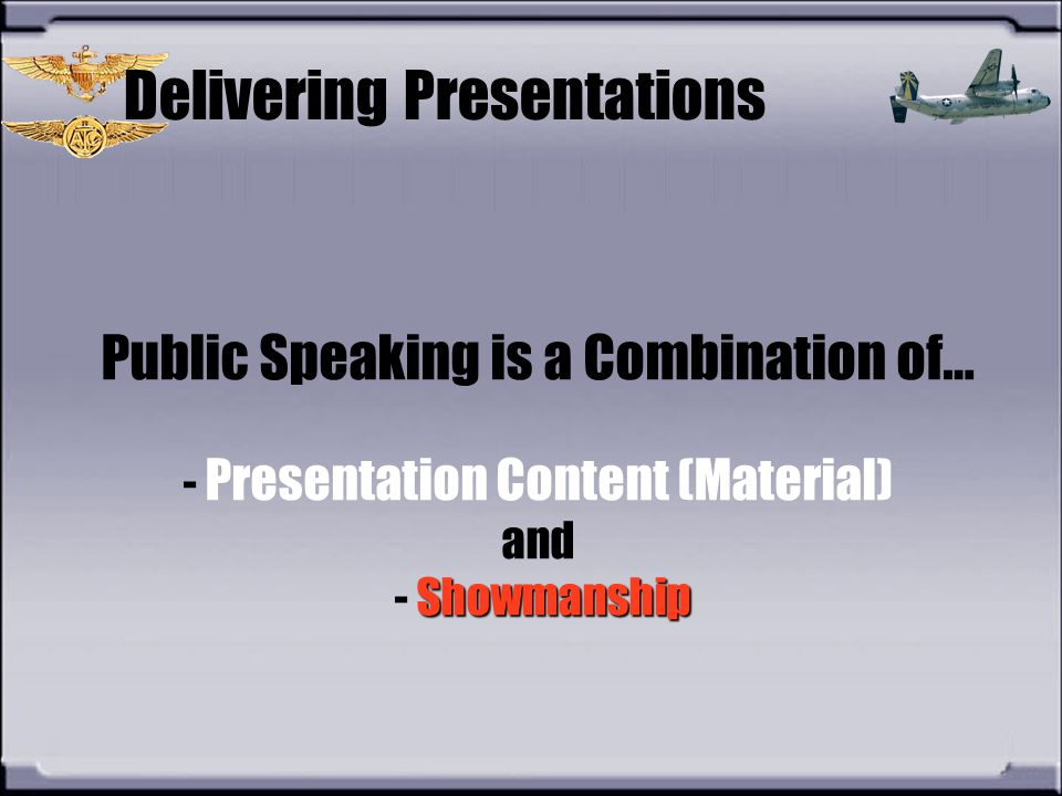 Delivering Presentations