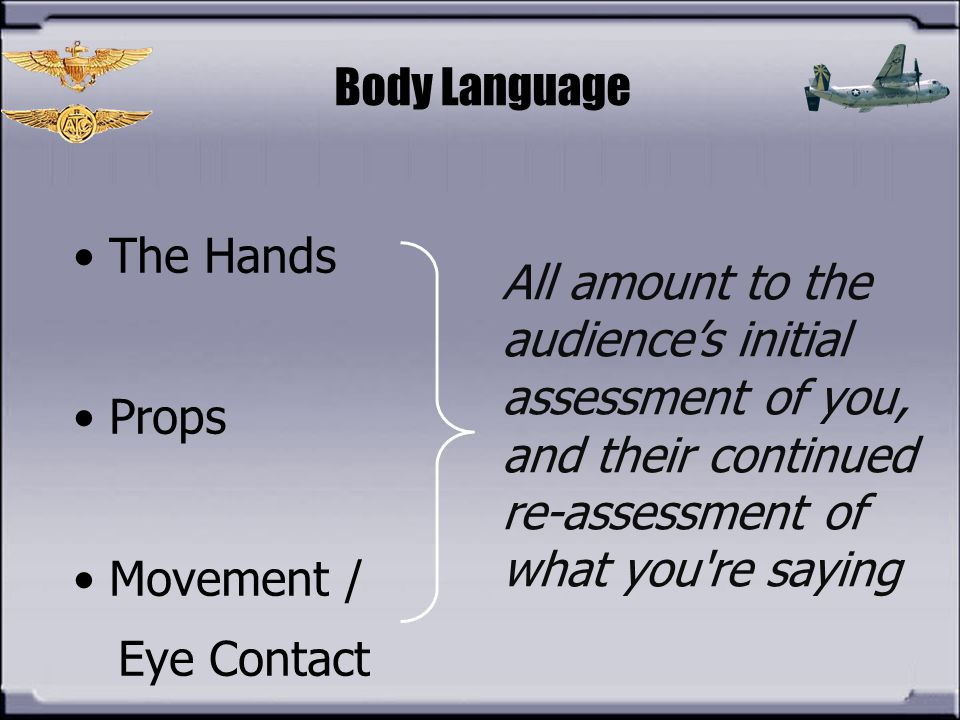 Body Language The Hands