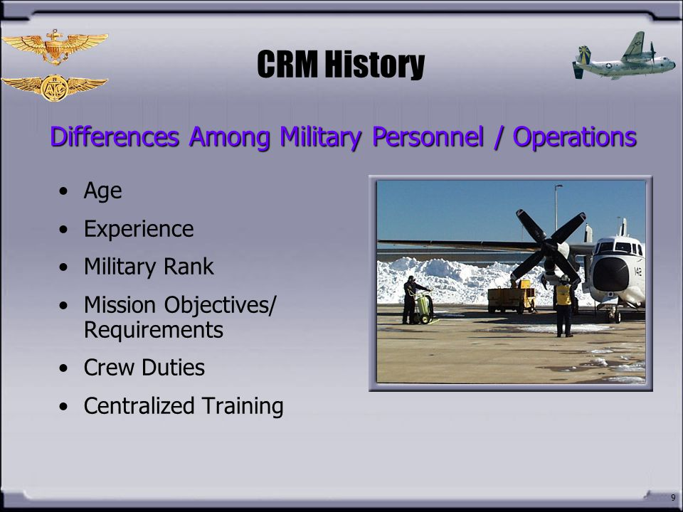 Differences Among Military Personnel / Operations