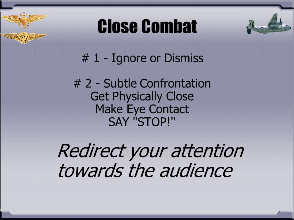 Redirect your attention towards the audience