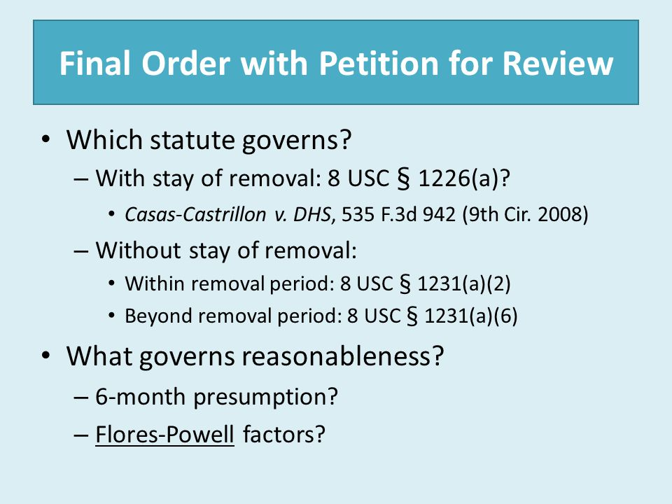 Final Order with Petition for Review