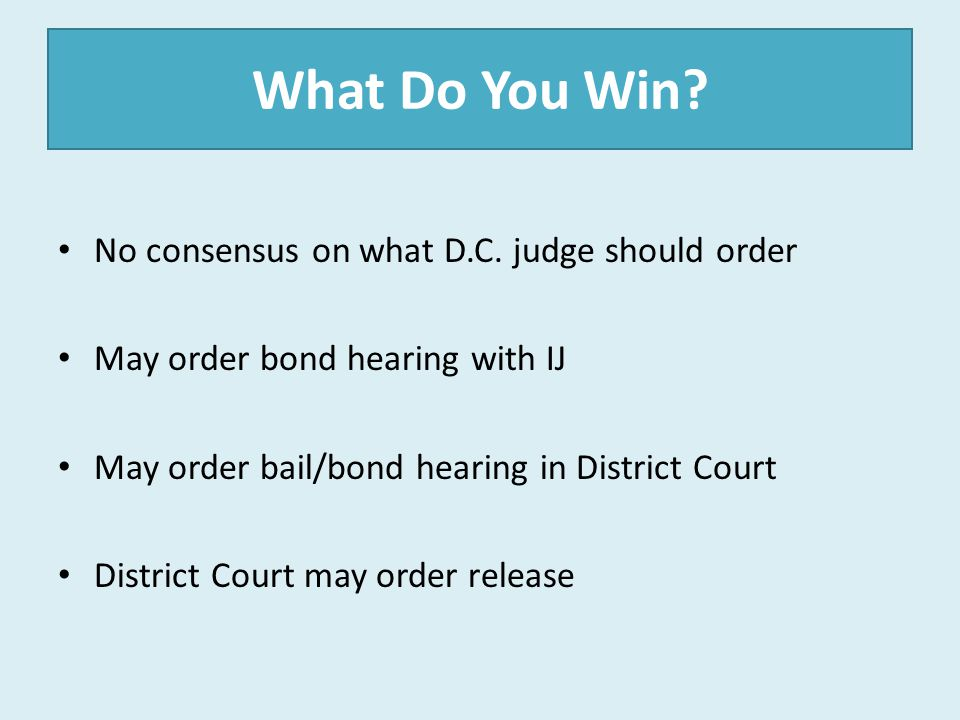 What Do You Win No consensus on what D.C. judge should order