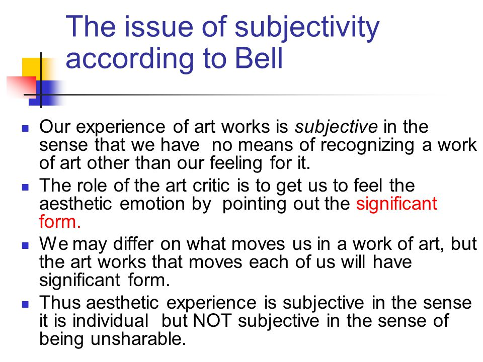 The issue of subjectivity according to Bell