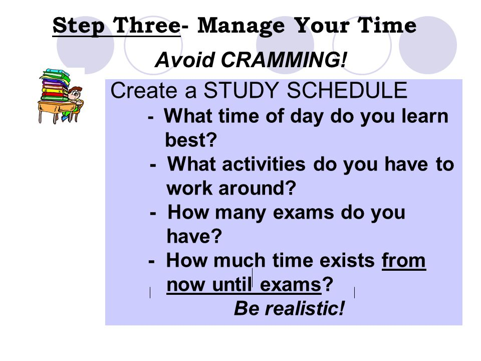 Step Three- Manage Your Time