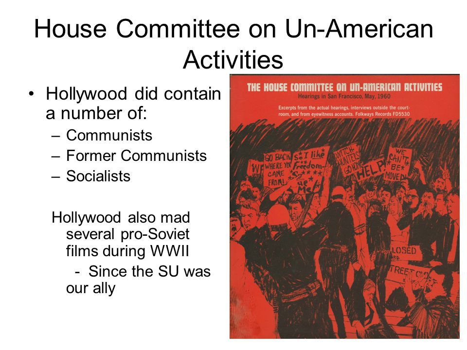 House Committee on Un-American Activities