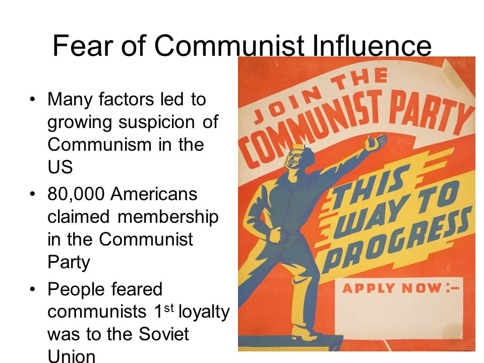 Fear of Communist Influence