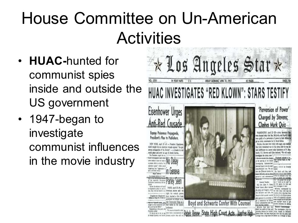 House Committee on Un-American Activities