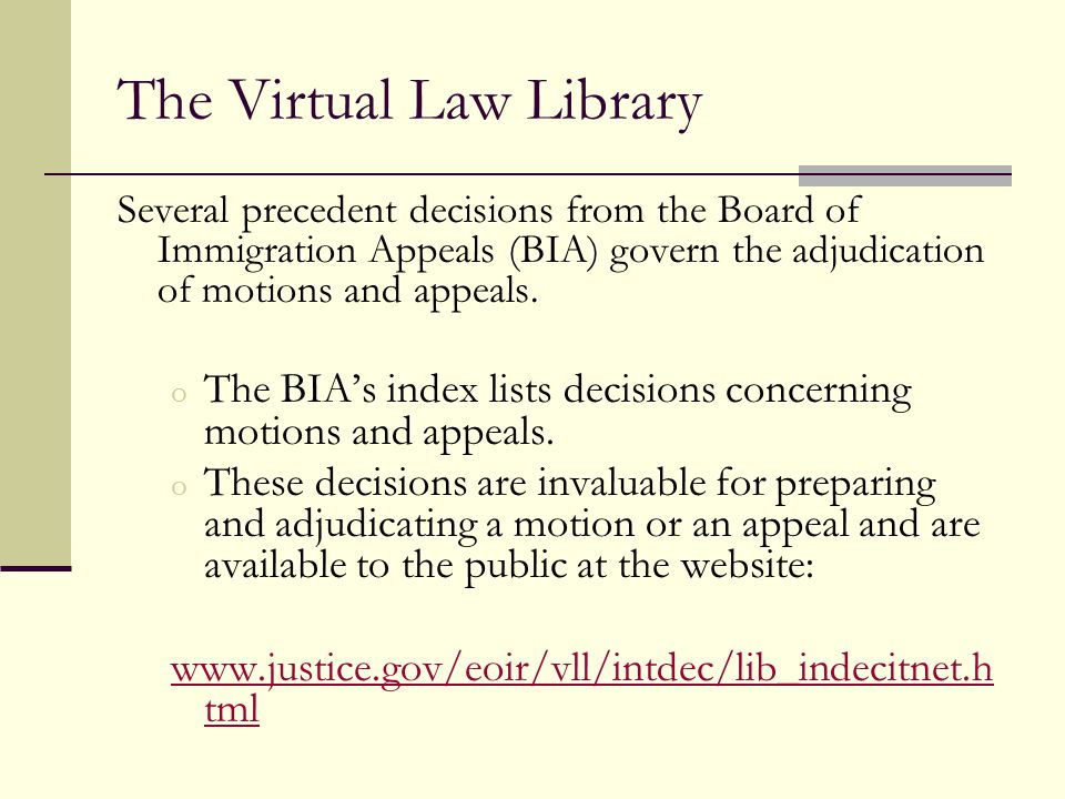 The Virtual Law Library