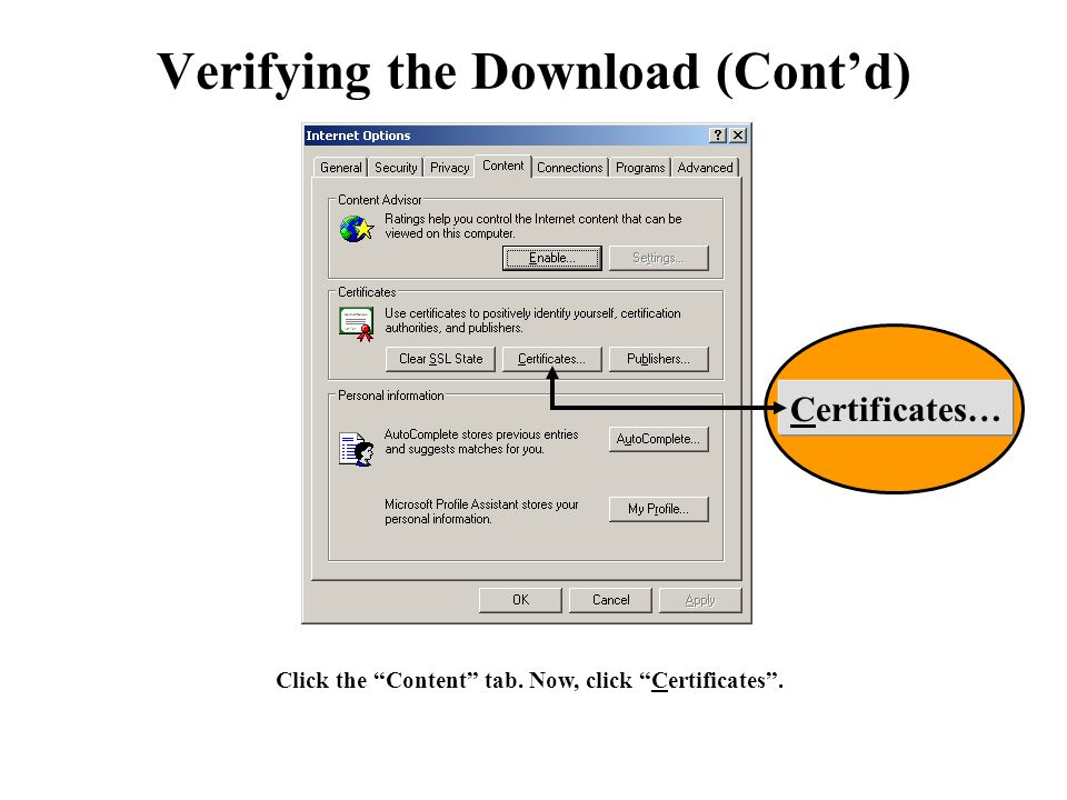 Verifying the Download (Cont'd)