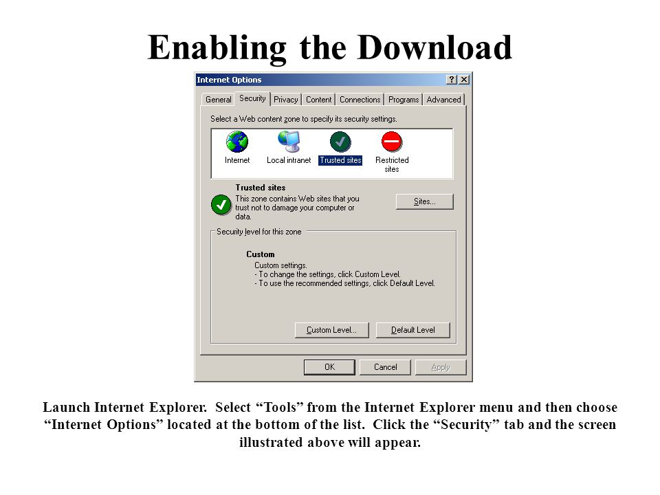 Enabling the Download