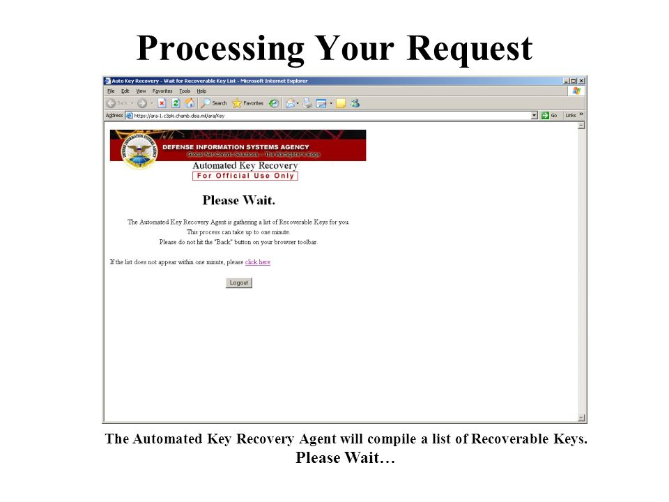 Processing Your Request