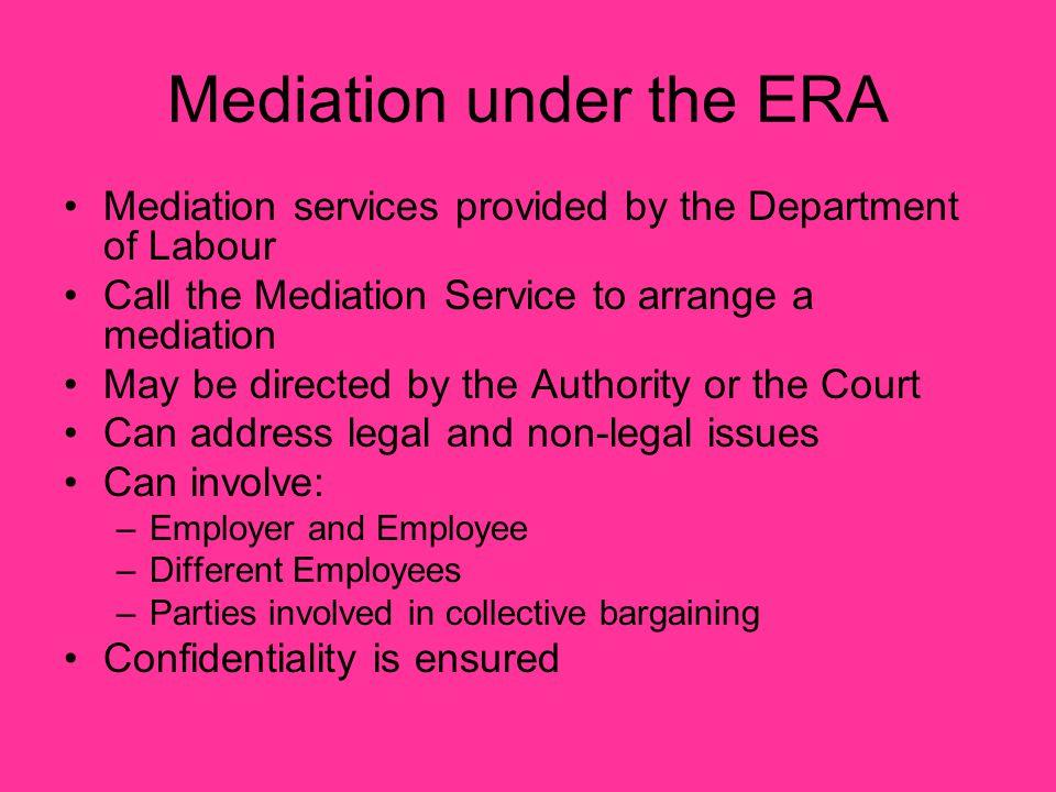 Mediation under the ERA