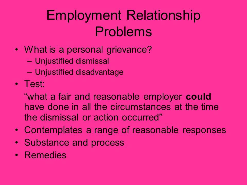 Employment Relationship Problems