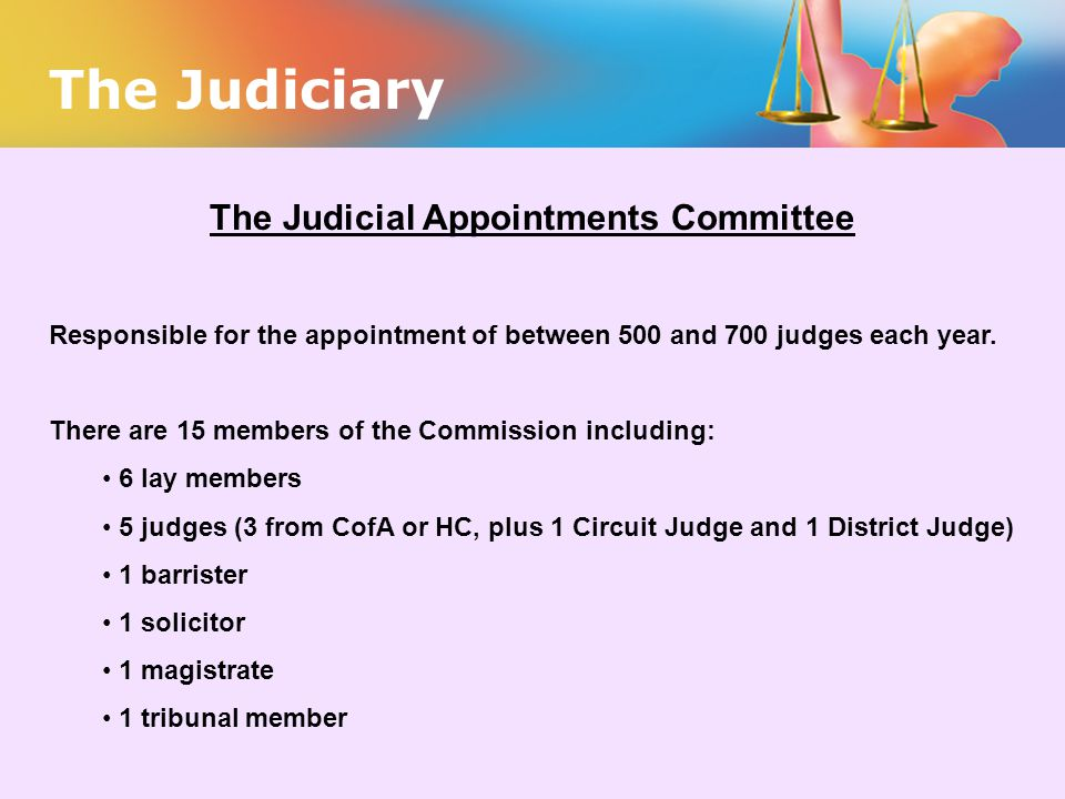 The Judicial Appointments Committee