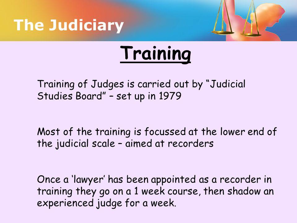 Training The Judiciary