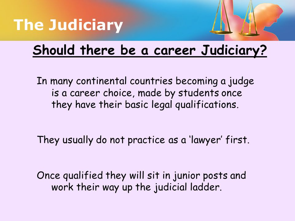Should there be a career Judiciary