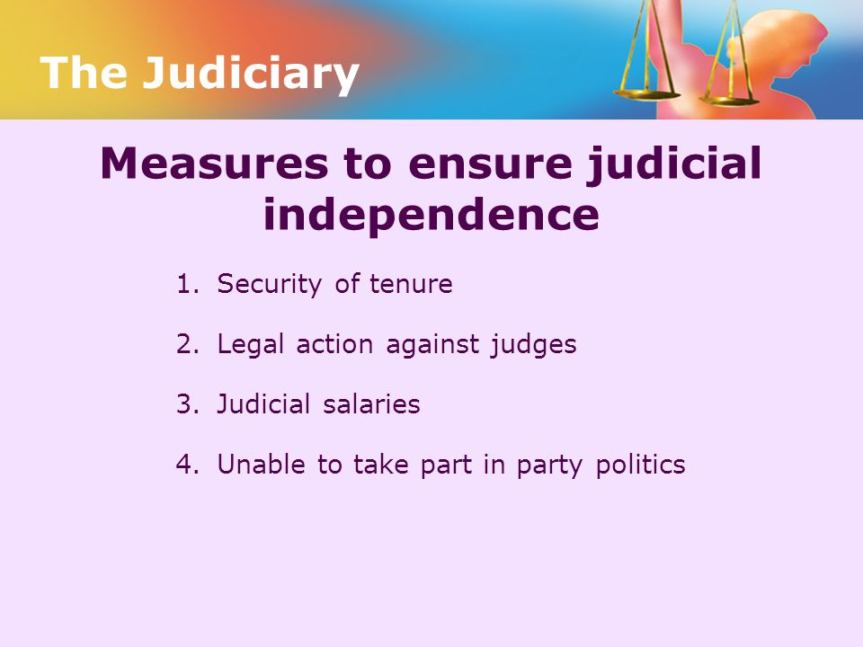 Measures to ensure judicial independence