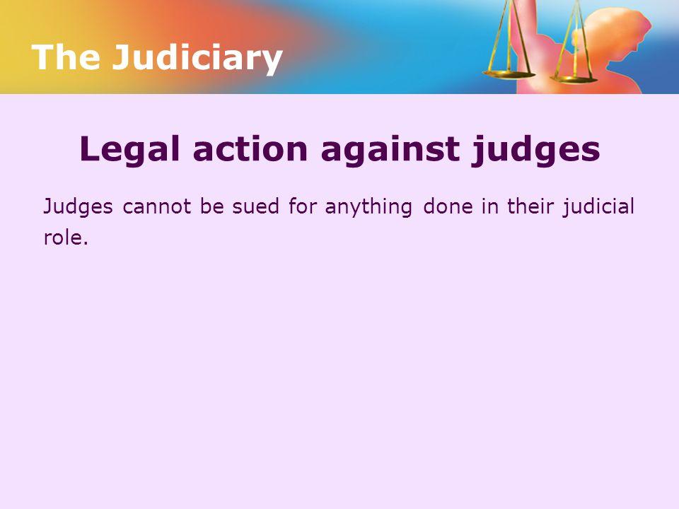 Legal action against judges