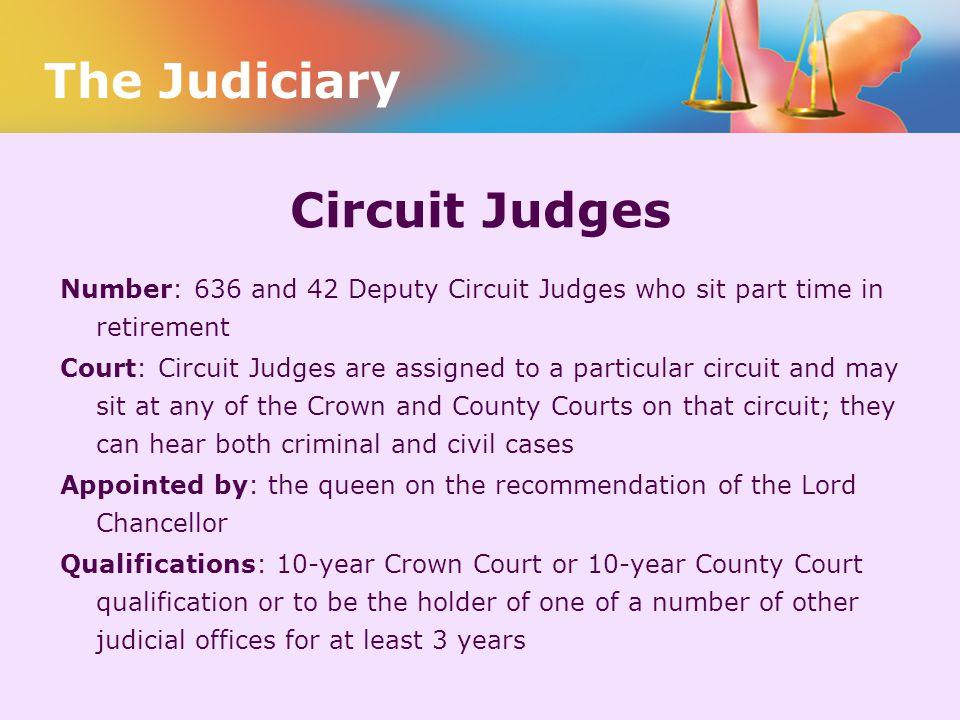 The Judiciary Circuit Judges