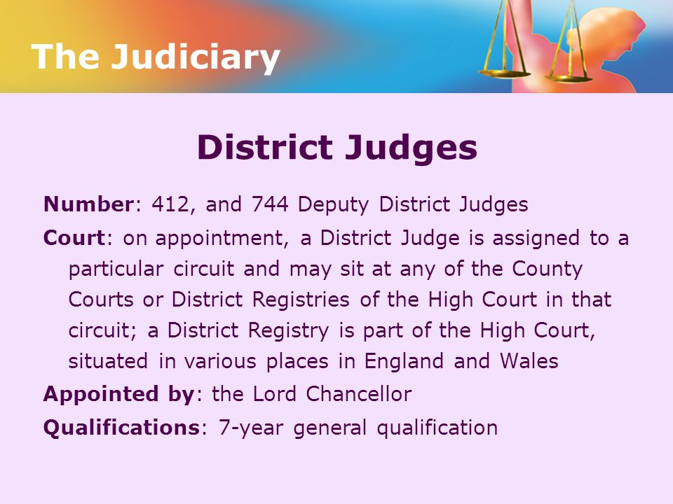 The Judiciary District Judges