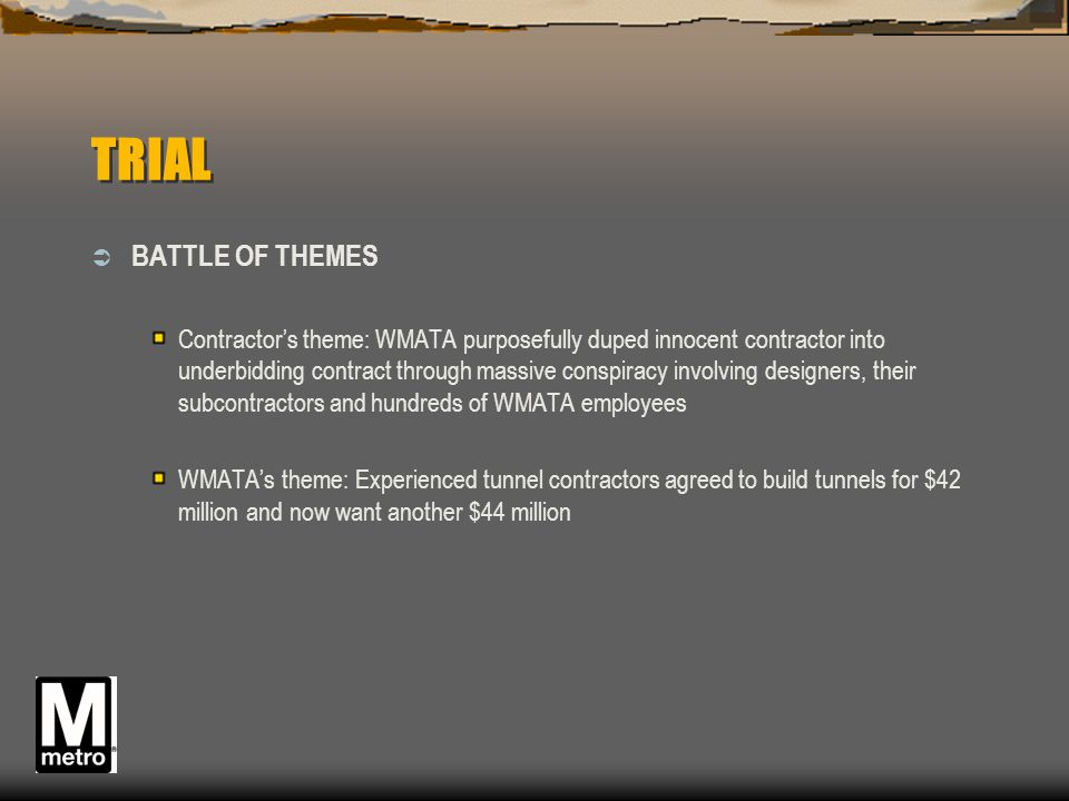 TRIAL BATTLE OF THEMES.