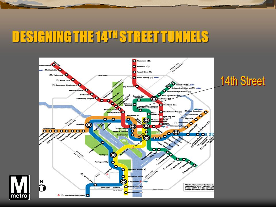 DESIGNING THE 14TH STREET TUNNELS
