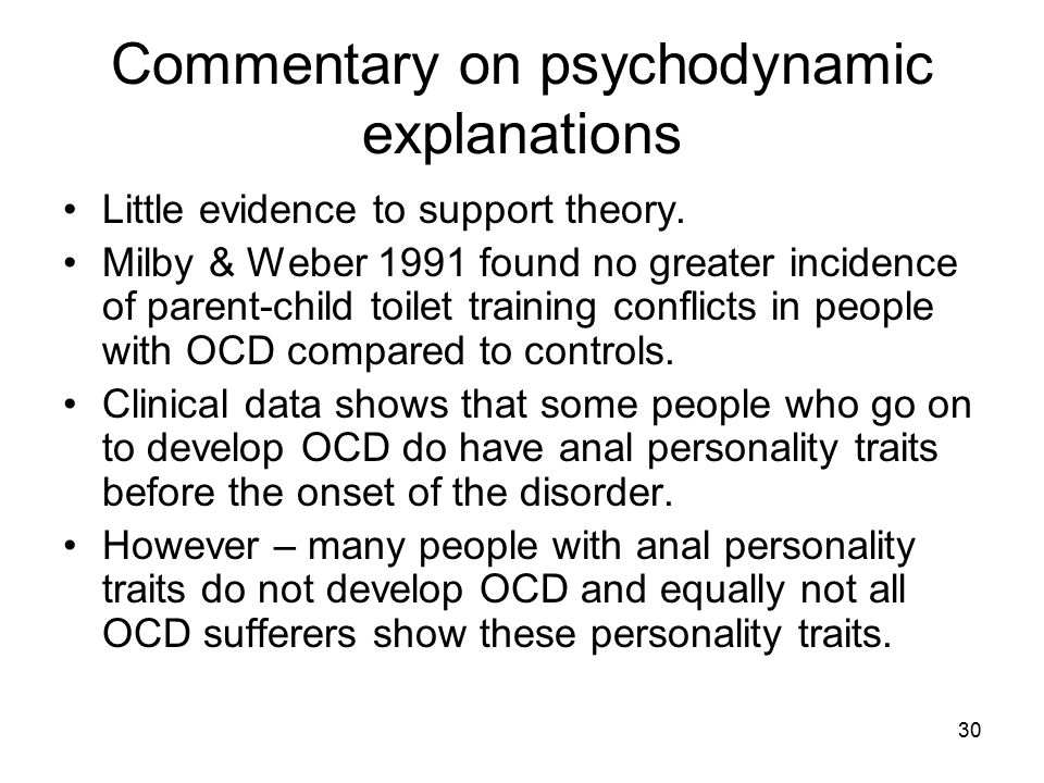Commentary on psychodynamic explanations