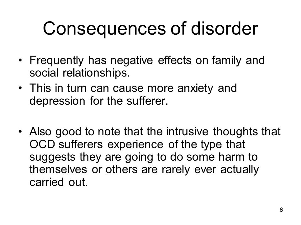 Consequences of disorder