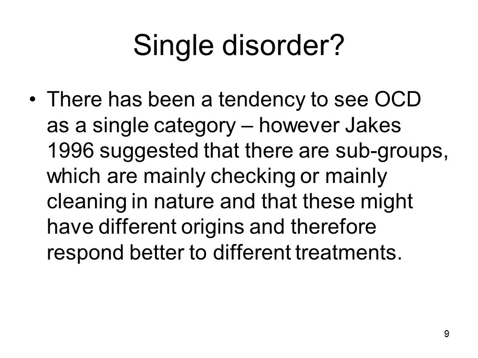 Single disorder