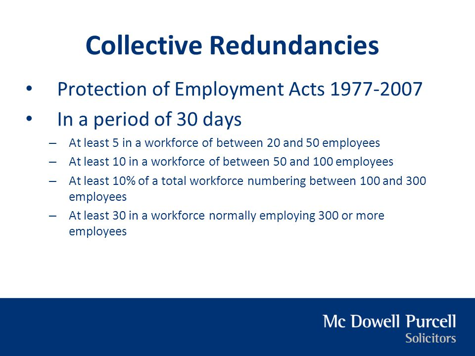 Collective Redundancies