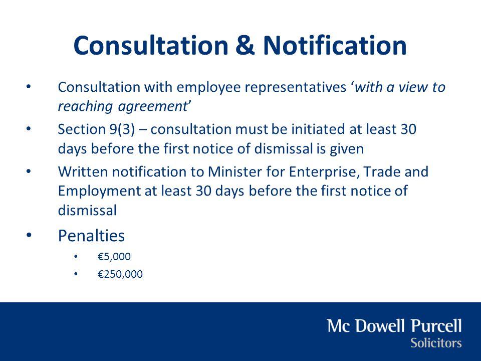 Consultation & Notification