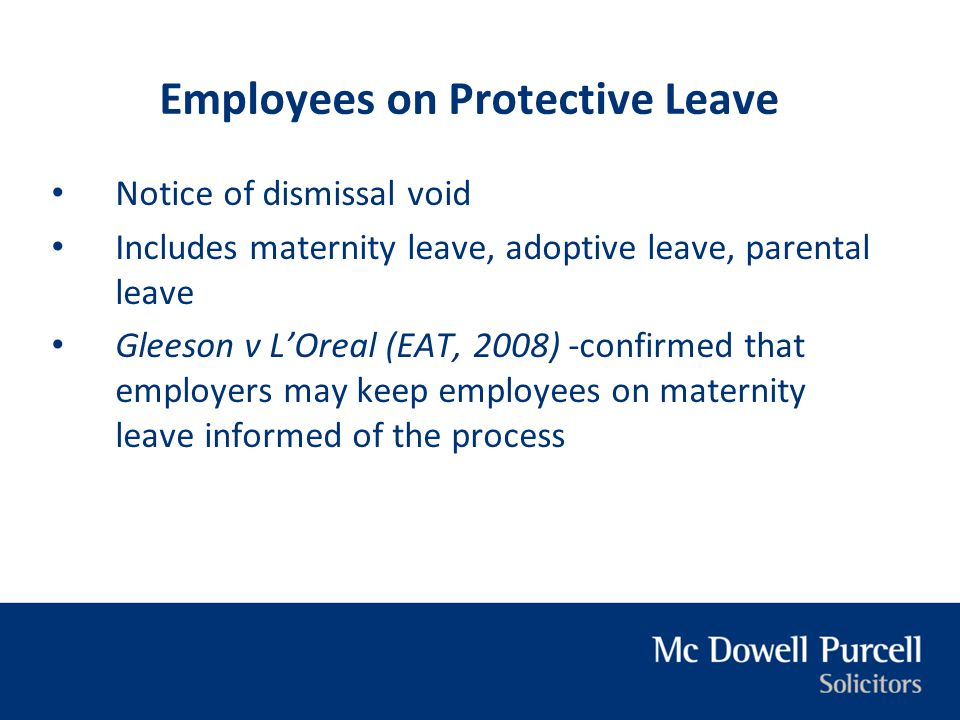 Employees on Protective Leave