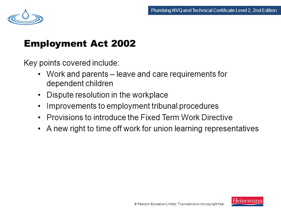 Employment Act 2002 Key points covered include: