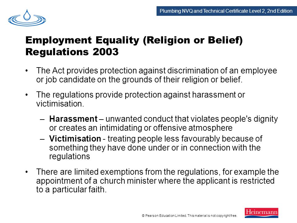 Employment Equality (Religion or Belief) Regulations 2003