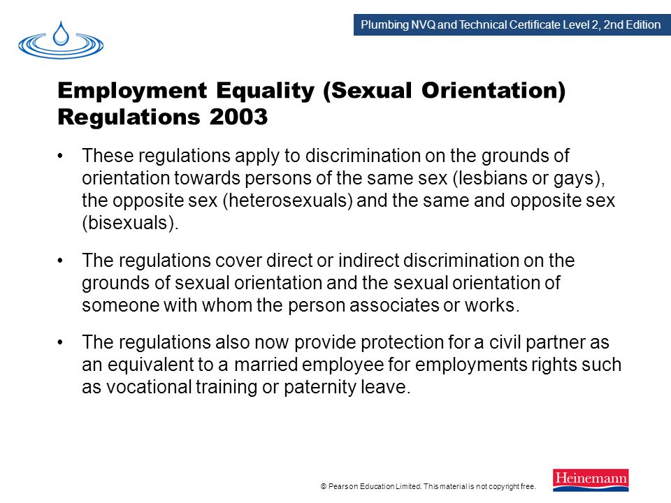 Employment Equality (Sexual Orientation) Regulations 2003