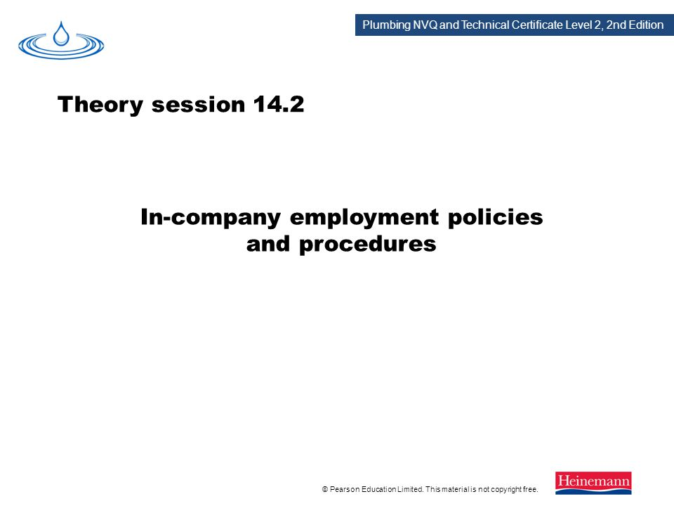 In-company employment policies and procedures