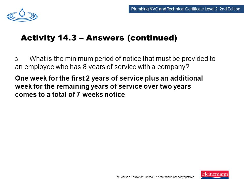 Activity 14.3 – Answers (continued)