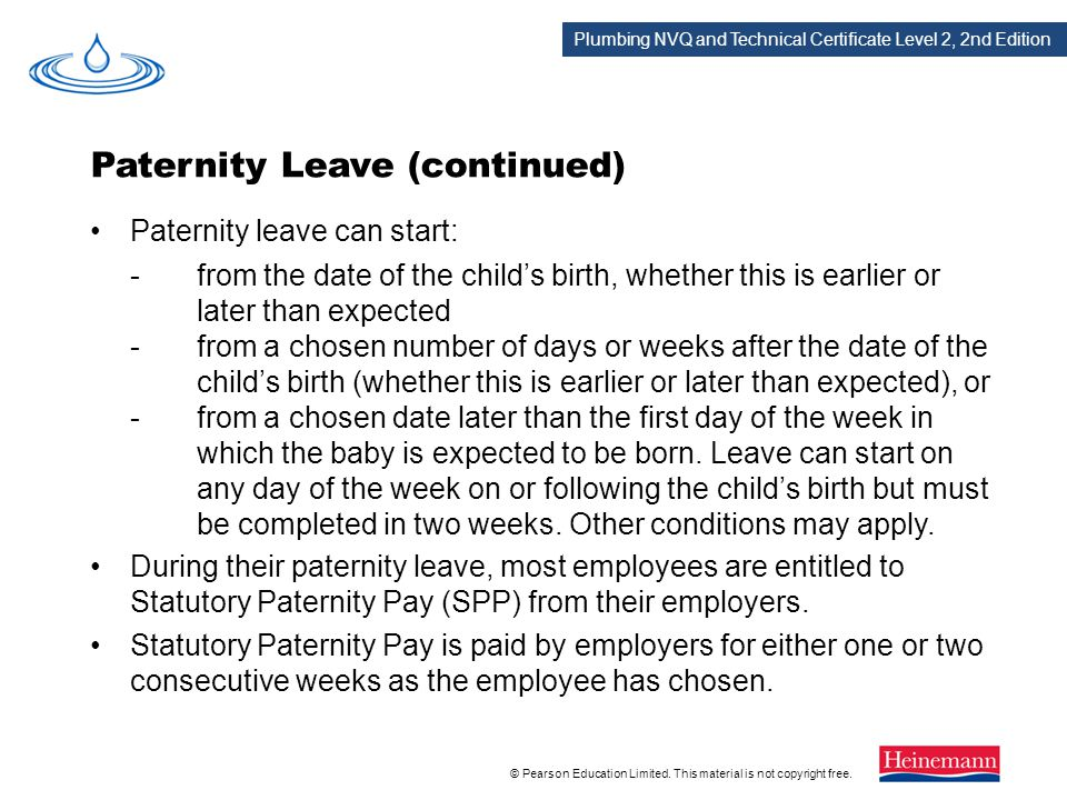 Paternity Leave (continued)