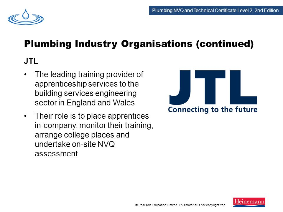 Plumbing Industry Organisations (continued)