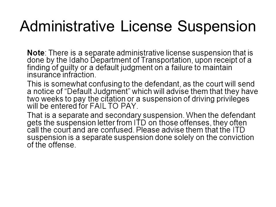 Administrative License Suspension