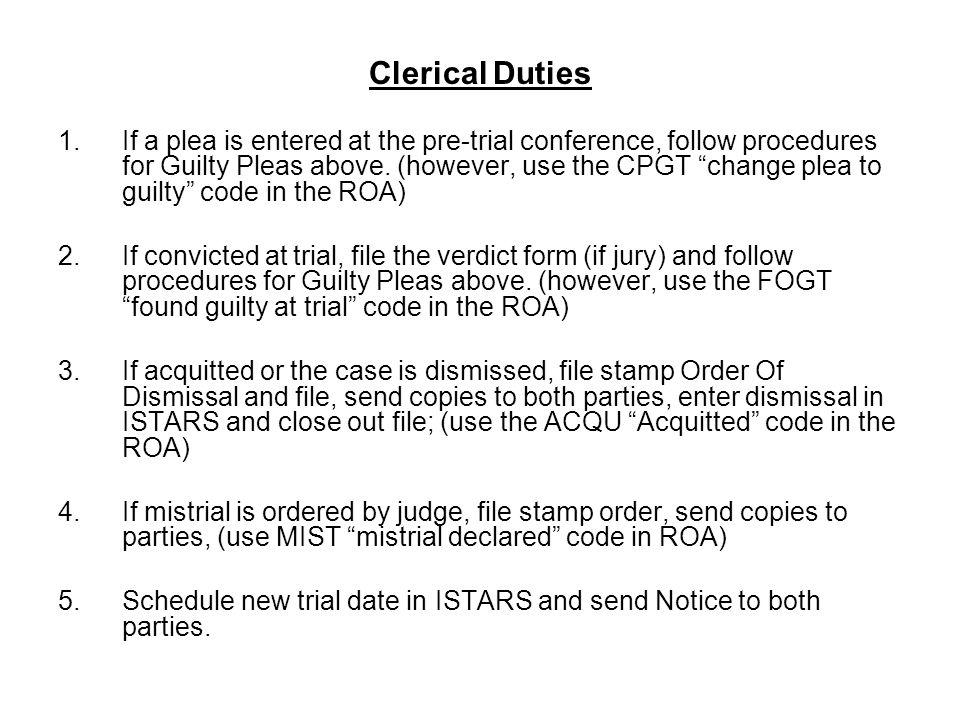 Clerical Duties